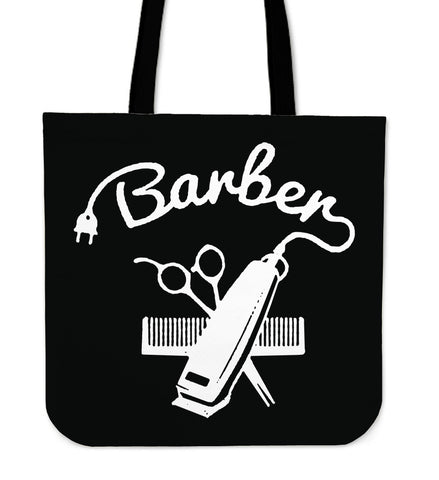 BARBER COMB PULL TOTE BAGS