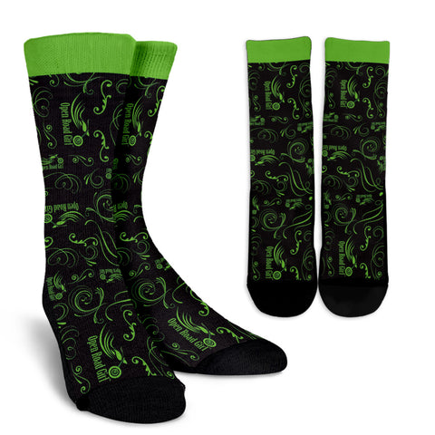 GREEN Open Road Girl Socks