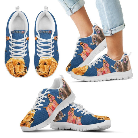 Image of Cocker Spaniel Print Running Shoes For Kids