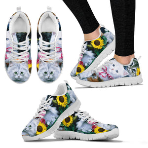 Cats & Flowers Women's Sneakers