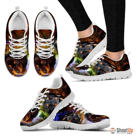 Coonhound Dog Print Running Shoe For Women