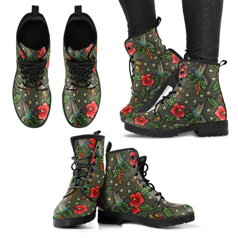 Birds and Flowers 3 Handcrafted Boots