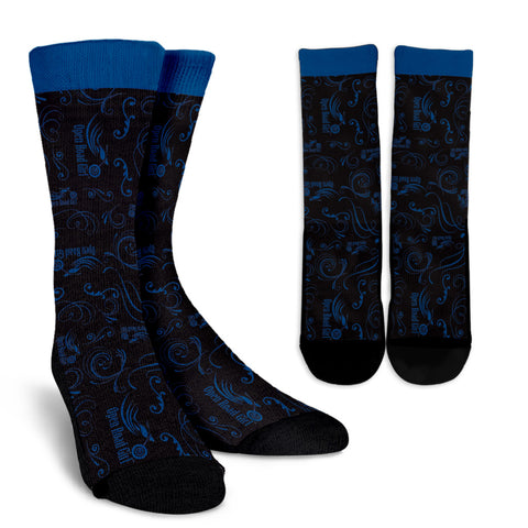 BLUE Open Road Girl Socks