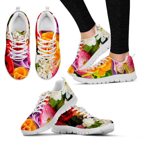 Flower White Women's Sneakers