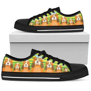Basset Hound Women's Low Top Shoe