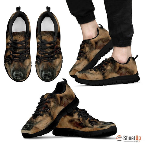 Amazing German Shepherd Print (Black/White) Running Shoes For Men Limited Edition