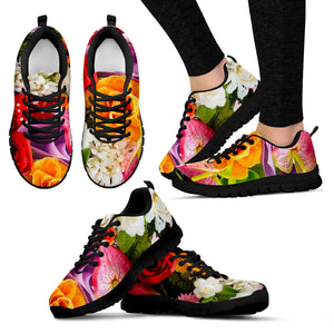 Flower Black Women's Sneakers
