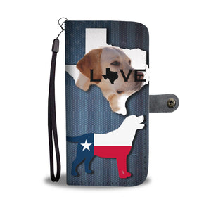 Amazing Labrador Retriever Dog Love Print Wallet CaseTX State
