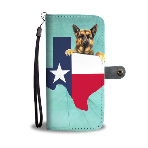 Amazing German Shepherd Dog Print Wallet CaseTX State