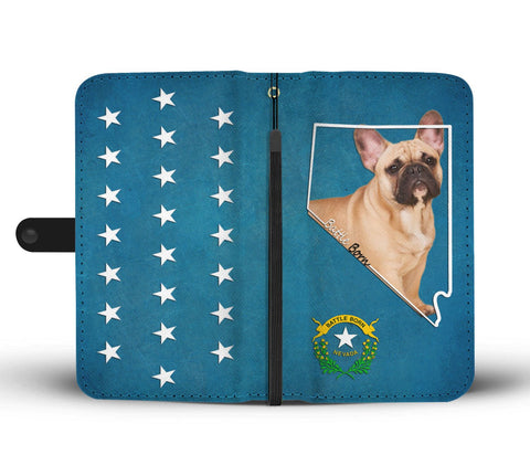 Amazing French Bulldog Print Wallet CaseNV State
