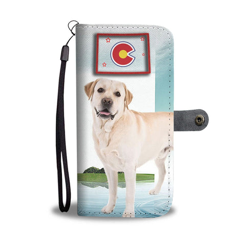 Image of Amazing Labrador Retriever Print Wallet CaseCO State