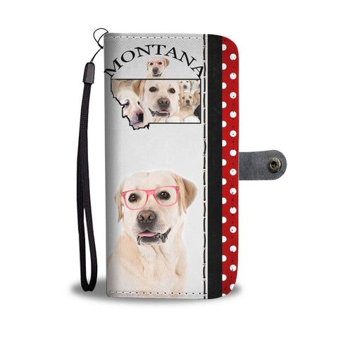 Image of Amazing Labrador Retriever Print Wallet CaseMT State