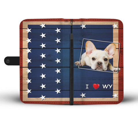 Amazing French Bulldog Print Wallet CaseWY State