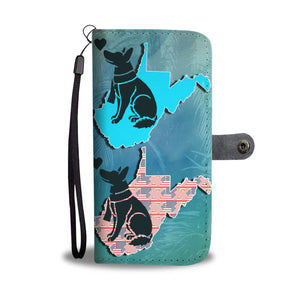 Amazing German Shepherd Dog Print Wallet CaseWV State