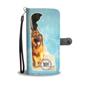 Amazing German Shepherd Print Wallet CaseDE State