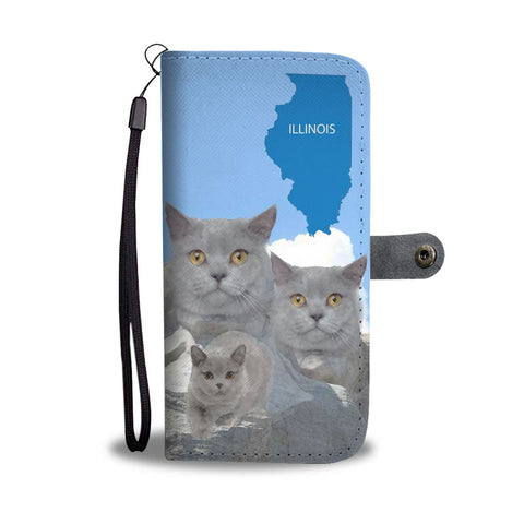 Image of Amazing British Shorthair Cat Print Wallet CaseIL State