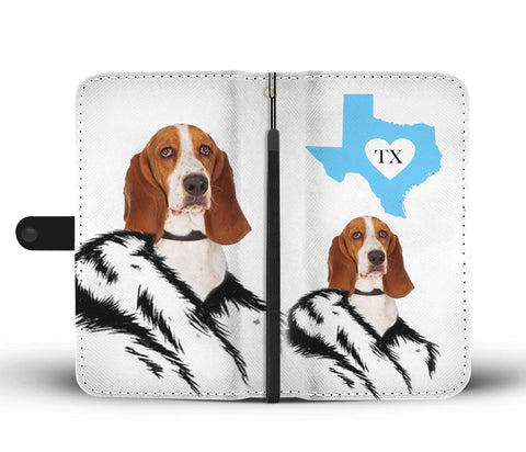 Image of Amazing Basset Hound Print Wallet CaseTX State
