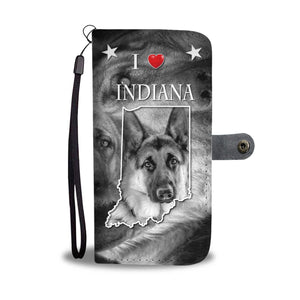 Amazing German Shepherd Print Wallet CaseIN State