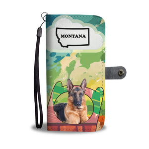 Amazing German Shepherd Print Wallet CaseMT State