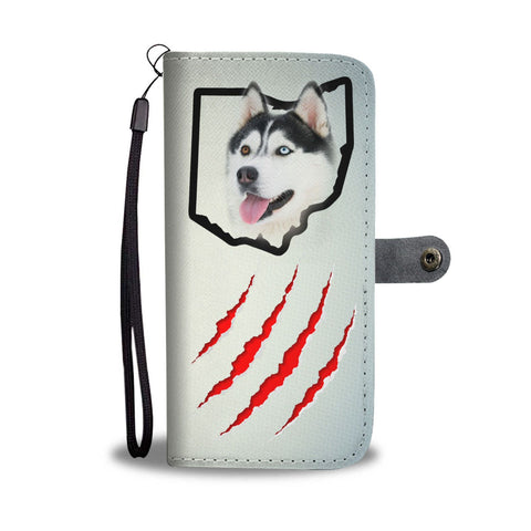Amazing Siberian Husky Print Wallet CaseOH State