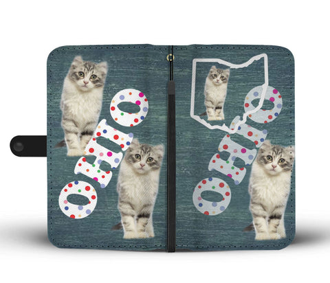 American Curl Cat Print Wallet CaseOH State