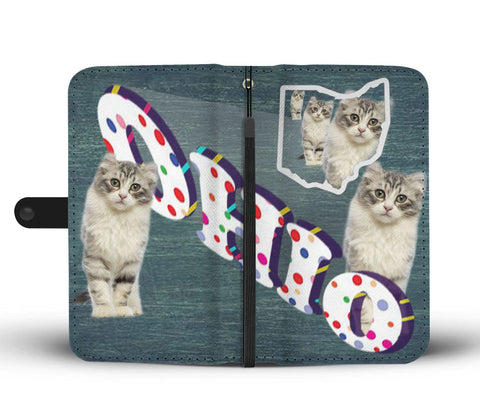 American Curl Cat 3D Print Wallet CaseOH State