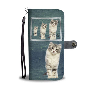 American Curl Cat Print Wallet CaseCO State