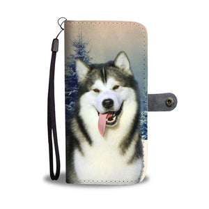 Alaskan Malamute Dog Wallet Case