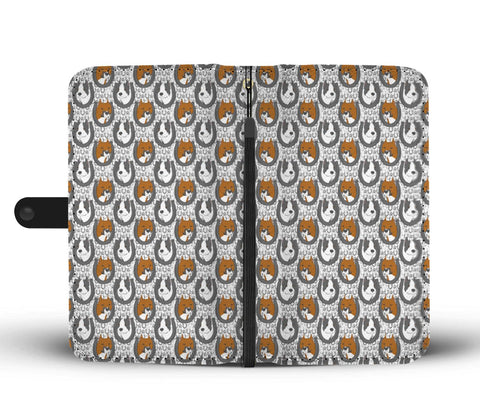 American Staffordshire Terrier Pattern Print Wallet Case