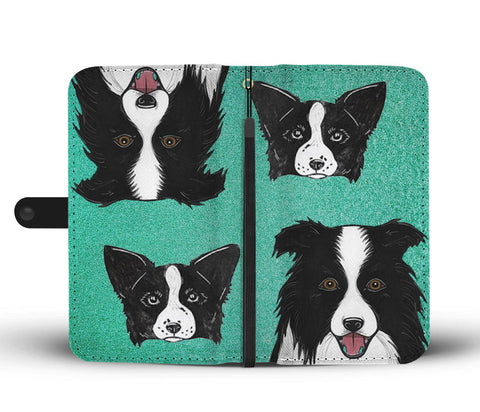 Image of Amazing Border Collie Dog Print Wallet Case