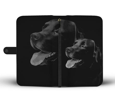Amazing Black Labrador Dog Print Wallet Case
