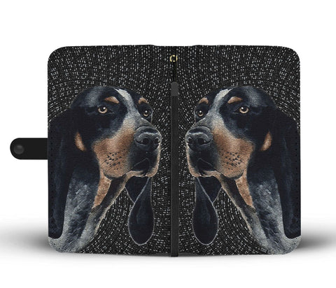 Image of Amazing Bluetick Coonhound Dog Print Wallet Case
