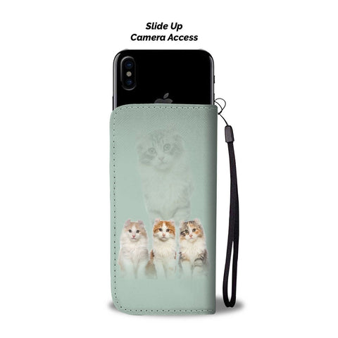 Image of American Curl Cat Print Wallet Case