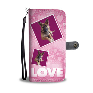 Belgian Malinois Dog with Love Print Wallet Case