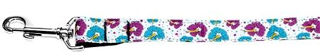 Blue And Purple Hibiscus Flower Nylon Dog Leash 4 Foot