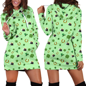 St Patricks Day Womens Hoodie Dress