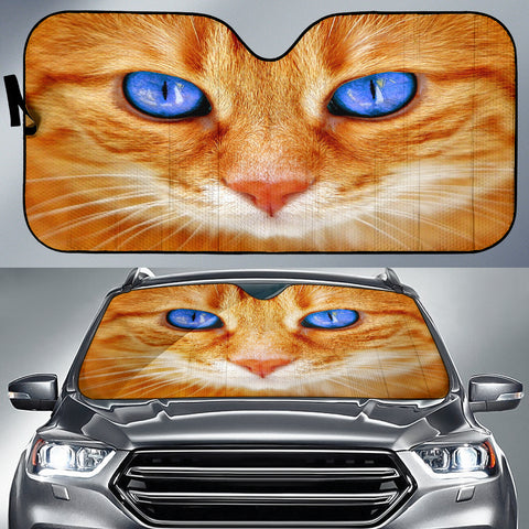 Image of Blue eyed cute cat Auto Sun Shade