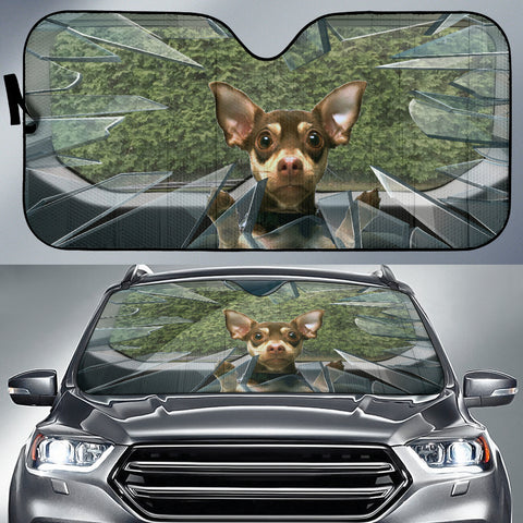 Image of Brown chihuahua Auto Sun Shade