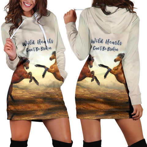 Wild Hearts Can't Be Broken Hoodie Dress