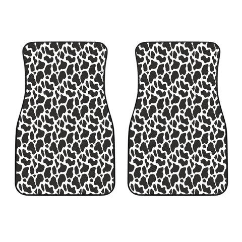 Image of Cow Animal Print Car Floor Mats