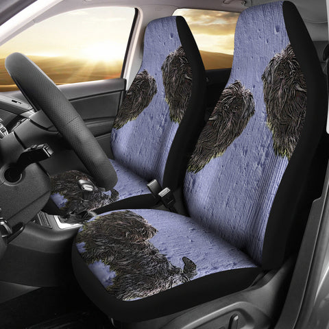 Image of Cute black dog Car Seat Cover