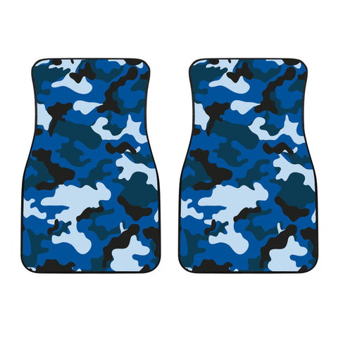 Blue Camouflage Car Floor Mats