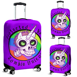 Zombie Unicorn Protective Luggage Cover
