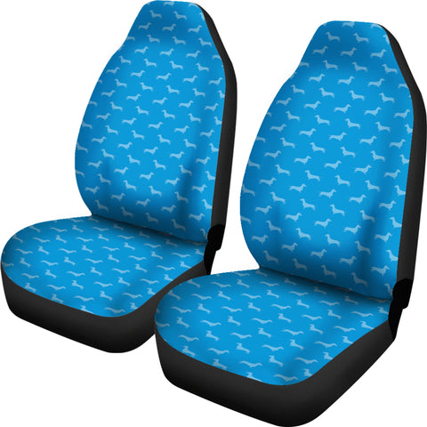 Dachshund Pattern Blue Car Seat Covers