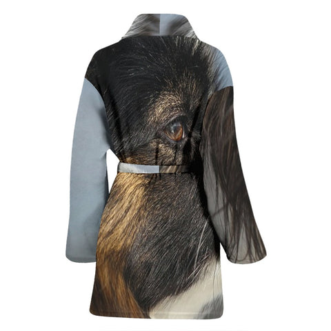Amazing Papillon Dog Print Women's Bath Rob