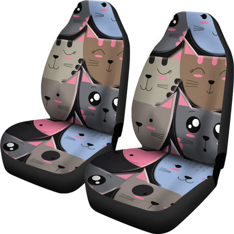 Image of Cute cat faces Car Seat Cover
