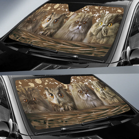 Cats and Owl Auto Sun Shade