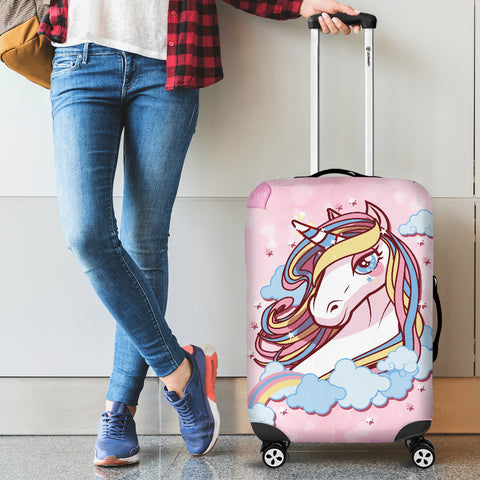 Unicorn Dreaming Protective Luggage Bag Cover