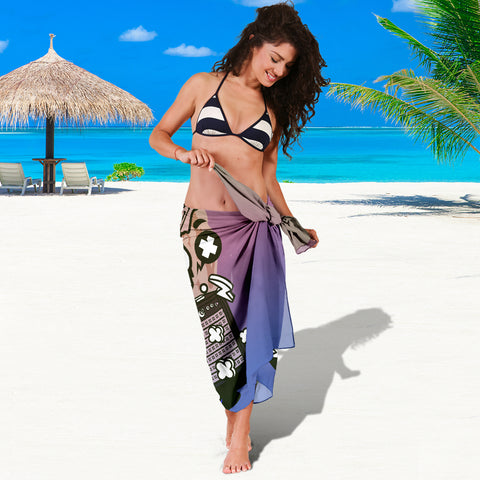 Amped Guitar Sarong for Musicians and Music Freaks