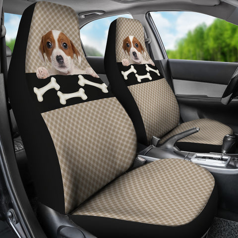 Image of Bone & Puppy Car Seat Cover